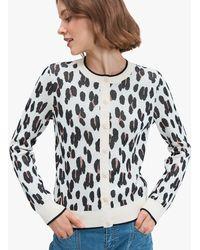 Kate Spade Leopard Signature Cardigan - Multicolour