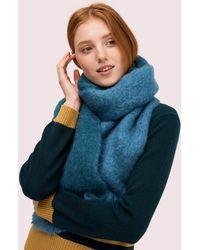 Kate Spade Fuzzy Woven Scarf - Blue