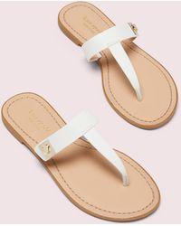 Kate Spade Cyprus Thong Flip Flops - White