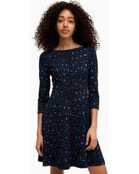 Kate Spade Broome Street Leopard Ponte Dress - Blue