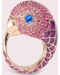 Kate Spade Tropical Paradise Statement Parrot Ring - Pink
