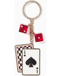 Kate Spade Key Fobs Metal Card - Red