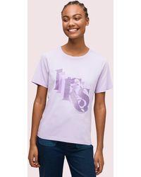 Kate Spade Ombré Logo Tee - Purple