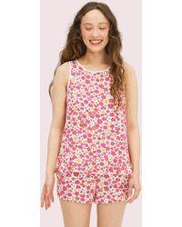 Kate Spade Marker Floral Short Pj Set - Pink