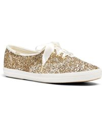 Keds X Kate Spade New York Women's Glitter Lace Up Trainers - Multicolour
