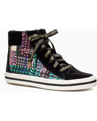 Kate Spade - Keds X New York High Top Dotty Youth Sneakers - Lyst