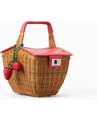 Kate Spade - Picnic Perfect 3d Wicker Picnic Basket - Lyst