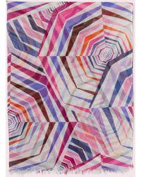 Kate Spade Geobrella Print Fringe Scarf - Multicolour