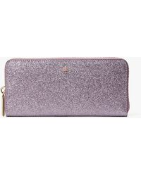 Kate Spade Burgess Court Boxed Slim Continental Wallet - Purple