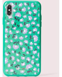 Kate Spade Jewelled Party Floral Iphone Xs Max Case - Green
