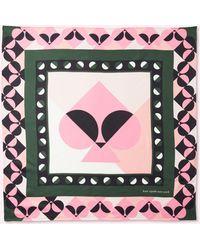 Kate Spade Spade Border Silk Square - Multicolour