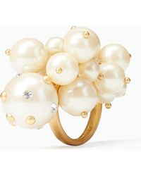Kate Spade - Pearl Cluster Ring - Lyst