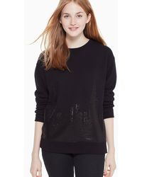 Kate Spade Skyline Sweatshirt - Black