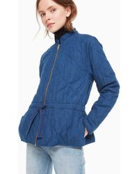 Kate Spade Chambray Quilted Jacket - Blue