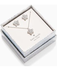 Kate Spade Blooming Pave Studs And Mini Pendant - Metallic
