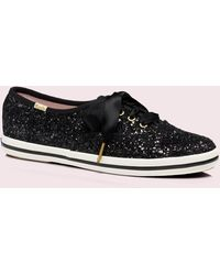 Kate Spade Keds X New York Glitter Sneakers - Black