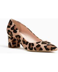 Milan Too Leopard Print Calf Hair Block Heel Pumps stHbXZD