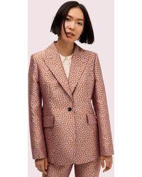Kate Spade Flora Leopard Jacquard Blazer - Multicolor