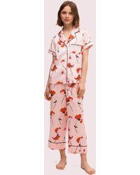 Kate Spade Poppies Long Pj Set - Pink