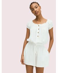 Kate Spade Cover-up Romper - White