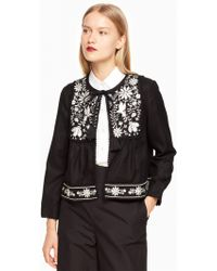 Kate Spade - Embroidered Jacket - Lyst