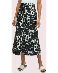 Kate Spade Monstera Grove Jacquard Skirt - Black