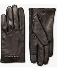 Kate Spade Pinmount Logo Leather Gloves - Black