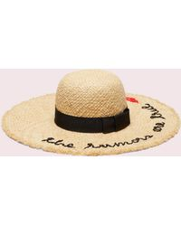 Kate Spade - The Rumors Are True Raffia Hat - Lyst