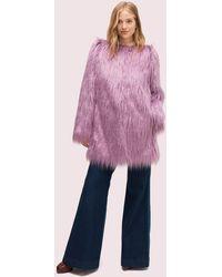 Kate Spade Faux Fur Coat - Pink