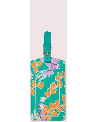 Kate Spade Bird Party Luggage Tag - Blue