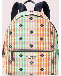 Kate Spade The Bella Plaid City Pack Large Backpack - Multicolour