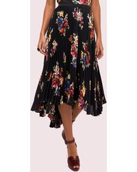 Kate Spade Rare Roses Pleated Skirt - Black