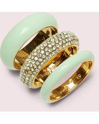 Kate Spade Candy Drops Pavé Ring Set - Multicolour