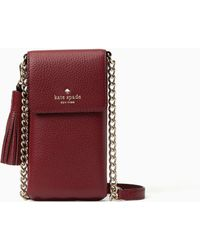 Kate Spade - North South Crossbody Pebbled Crossbody Iphone Case - Lyst