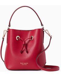 Kate Spade Eva Small Bucket Bag - Red