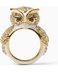Kate Spade - Star Bright Owl Ring - Lyst
