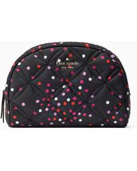 Kate Spade Jae Quilted Festive Confetti Medium Dome Cosmetic - Multicolour