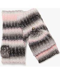 Kate Spade Marled Stripe Pop-top Gloves - Black