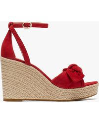 Kate Spade Tianna Espadrille Wedges - Red