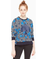 Kate Spade - Hibiscus Stripe Pullover - Lyst