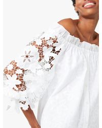 Kate Spade Broderie Anglaise Gathered Top - White