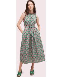 Kate Spade - Gingham Spade Belted Dress - Lyst