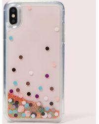 Kate Spade Disco Dots Liquid Glitter Iphone Xs Max Case - Pink