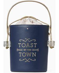 Kate Spade Steal The Spotlight Champagne Bucket Bag - Blue