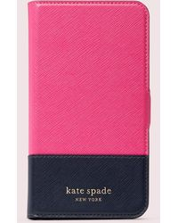 Kate Spade Spencer Iphone 11 Magnetic Wrap Folio Case - Pink