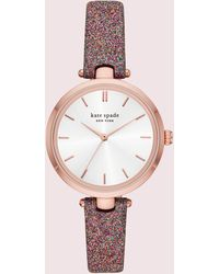 Kate Spade Holland Multicolor Glitter Leather Watch - Ksw1580