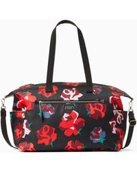 Kate Spade Dawn Bold Roses Weekender, Black Multi