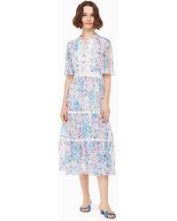 Kate Spade - Daisy Garden Midi Dress - Lyst