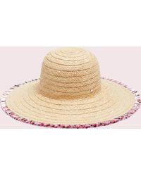 Kate Spade Multicolour Fringe Hat - Natural
