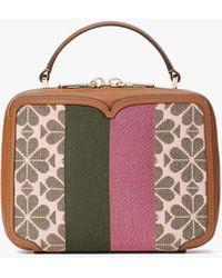 Kate Spade Vanity Spade Flower Jacquard Stripe Mini Top Handle Bag - Multicolor